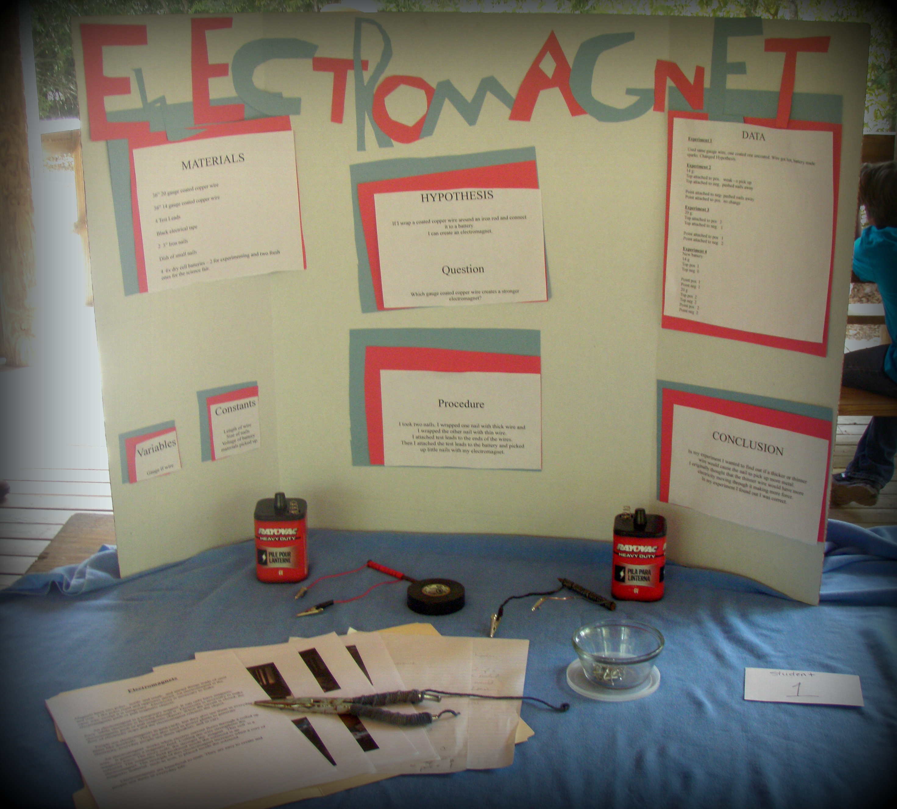 electromagnetic science fair projects
